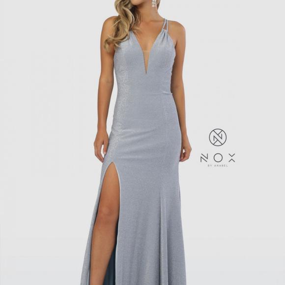 1094bea0a V-Neckline Sleeveless Mermaid Long Prom Dress C234. NWT. nox anabel